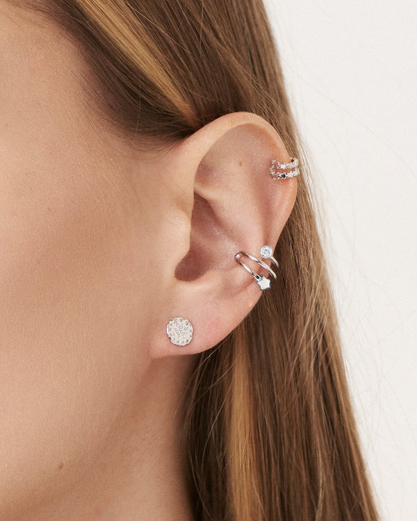 Sterling Silver Star & CZ Ear Cuff Earring Sterling Forever