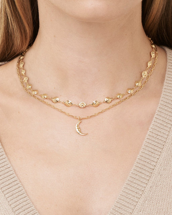 Sun Chain & Moon Layered Necklace Necklace Sterling Forever