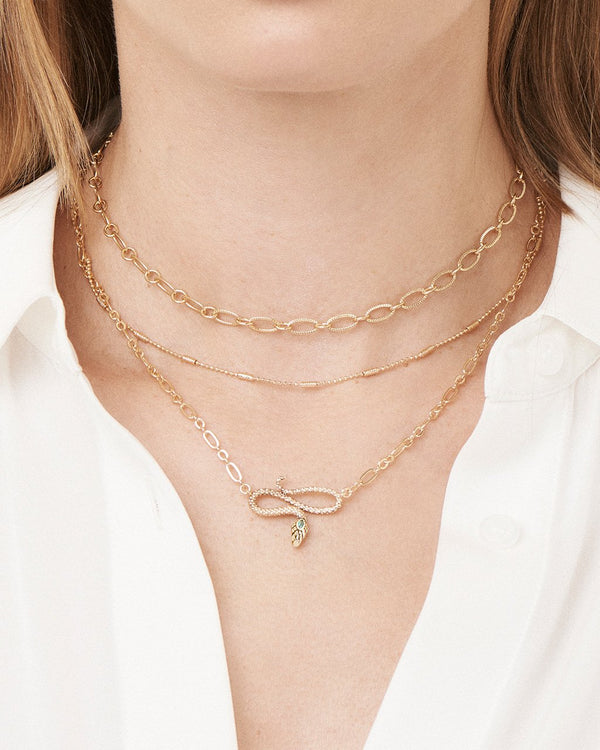 Linked Snake Layered Necklace Necklace Sterling Forever