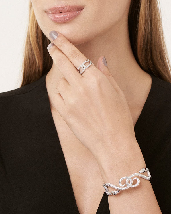 Interlocking Snake Cuff Bracelet Sterling Forever