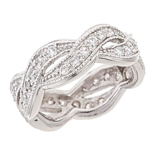 Sterling Silver Weave Promise Ring - Sterling Forever
