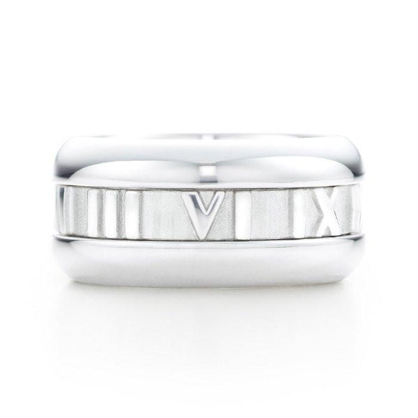 Sterling Silver Solid Roman Numeral Ring - Sterling Forever