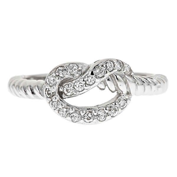 Sterling Silver Twist Love Knot Ring