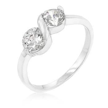 Sterling Silver Infinity Ring with CZ's - Sterling Forever