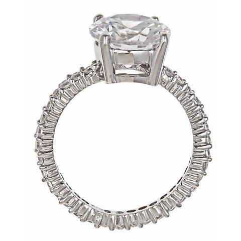 7853a96c2733 share it! Sterling Forever. Sterling Silver 3.5 Ct Brilliant Cut Cz  Engagement Ring