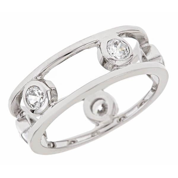 Sterling Silver Open Bubbles Band Ring - Sterling Forever