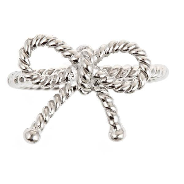 Sterling Silver Twist Bow Ring - Sterling Forever