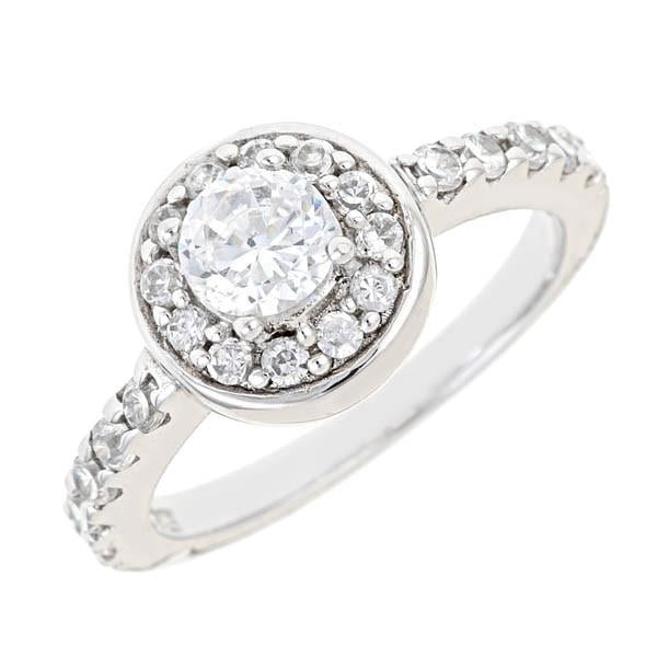 Sterling Silver Heidi's Brilliant Diamond Cubic Zirconia Ring