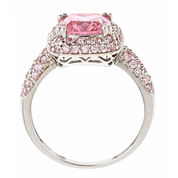 Legacy Ring with Pink Diamond CZs - Sterling Forever