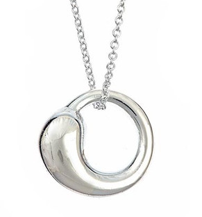 Sterling silver eternal circle pendant share it mozeypictures Choice Image