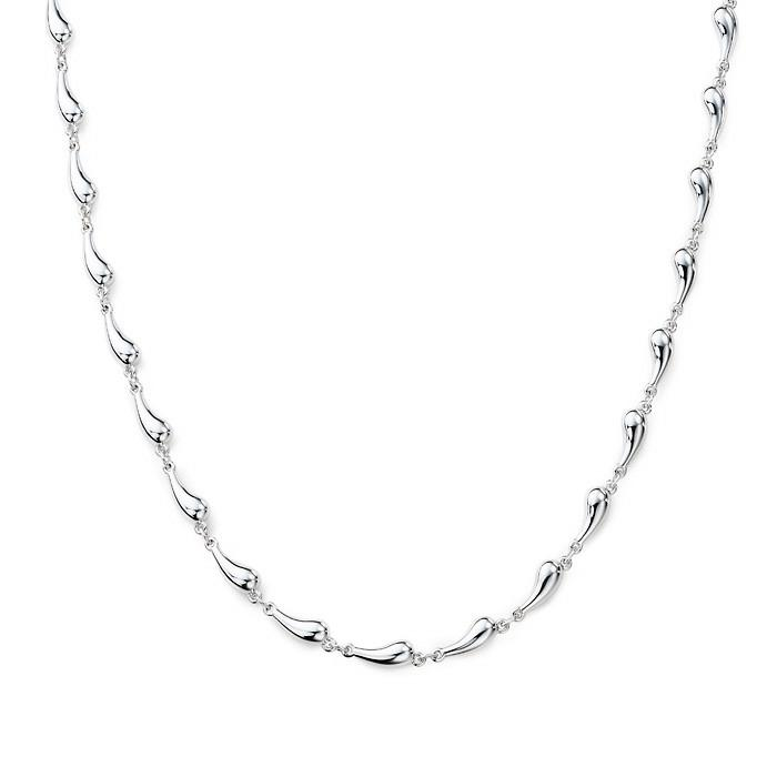 Sterling Silver Continuous Teardrop Necklace