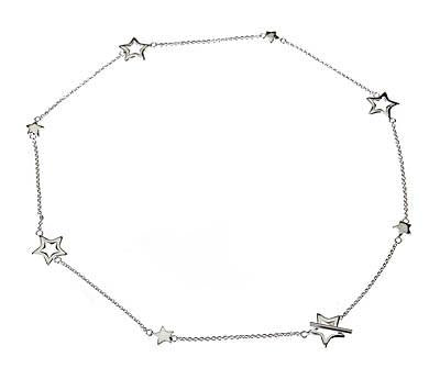 Sterling Silver Star Toggle Necklace