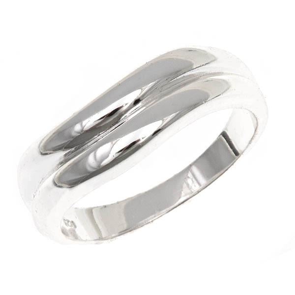 Sterling Silver Double Wave Band Ring