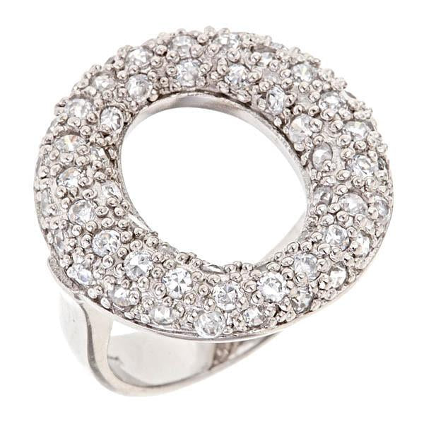 Sterling Silver Pave Sevillana O Ring