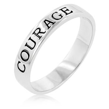 Sterling Silver Courage Ring