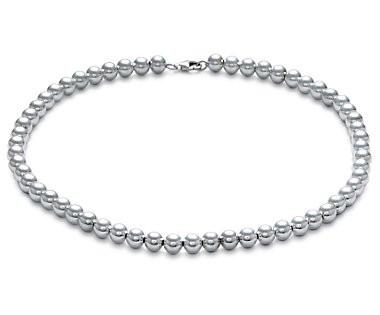 Sterling Silver 8mm Bead Necklace