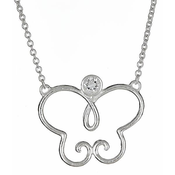Sterling Silver Villa Butterfly Necklace - Sterling Forever
