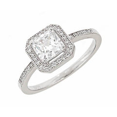 Sterling Silver Sparkling CZ Ring