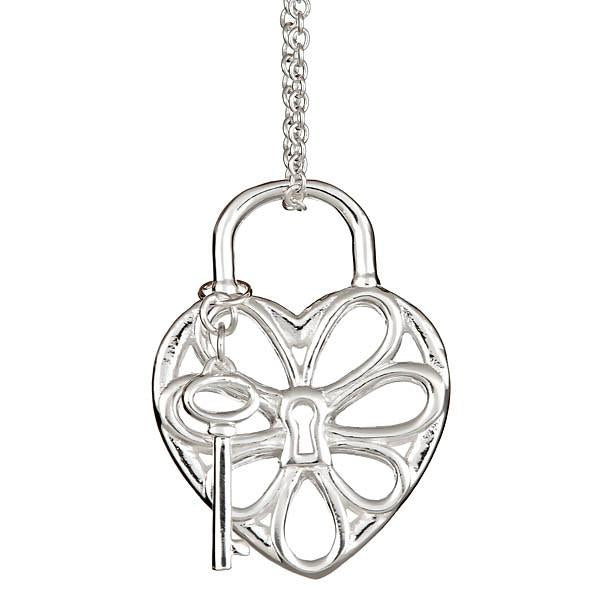 Sterling Silver Filigree Heart Pendant