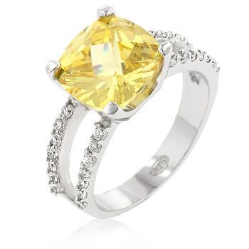 Sterling Silver Britney's Engagement Ring in Canary