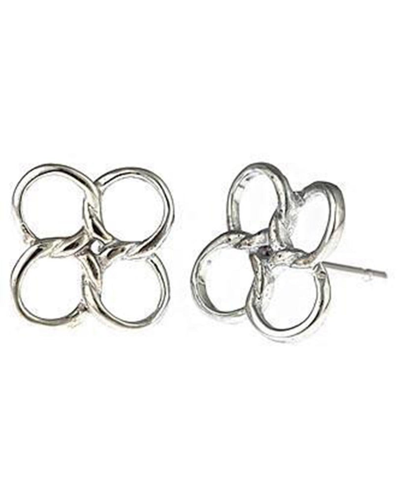 Sterling Silver Linked Circles Earrings