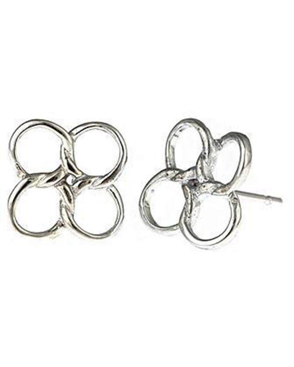 Sterling Silver Linked Circles Earrings Earring Sterling Forever Silver
