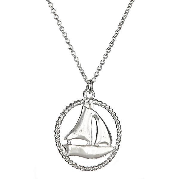 Sterling Silver Sail Boat Pendant - Sterling Forever