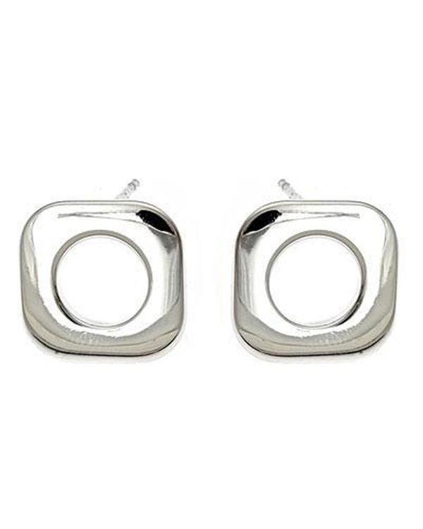 Sterling Silver Cushion Stud Earrings Earring Sterling Forever Silver