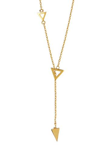 Triangle Lariat Necklace - Sterling Forever
