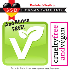 German Soap Box:  Vegan, Gluten and Cruelty Free