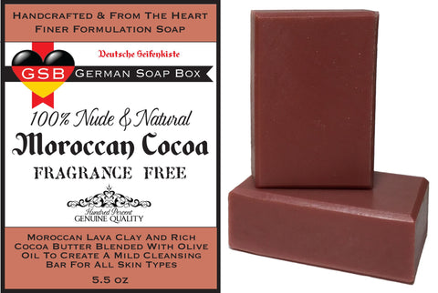 Unscented & Natural, Moroccan Cocoa 2 Bars