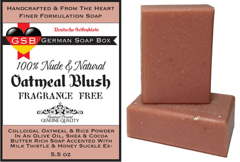 Unscented & Natural, Oatmeal Blush 2 Bars