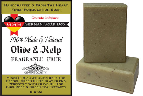 Unscented & Natural, Olive & Kelp 2 Bars