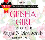 Geisha Girl Sugar & Rice Scrub: Rose