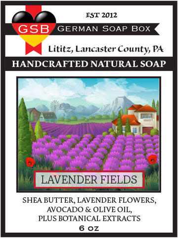 German Soap Box Original Scented Soap: Lavender Fields