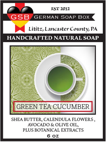 German Soap Box Original Scented Soap: Green Tea Cucumber