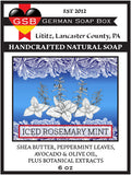 German Soap Box Original Scented Soap: Iced Rosemary Mint