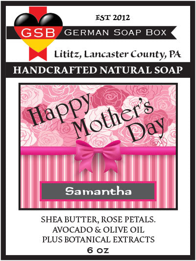 Personalized Soap: Mother's Day 01 - German Soap Box