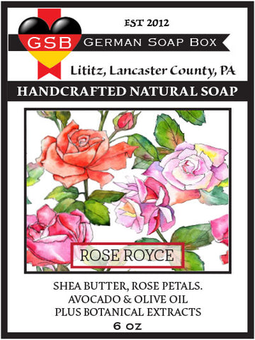German Soap Box Original Scented Soap: Rose Royce