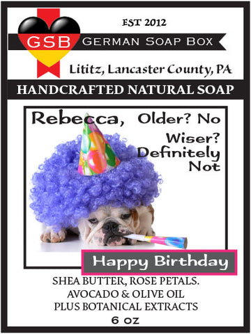 Personalized Soap: Birthday Bulldog