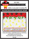 German Soap Box Original Scented Soap Poppy Lemongrass Natural