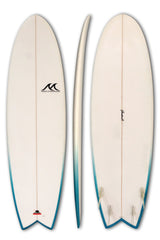 5'6 - 6'1 - 6'5 - 6'7 - 6'9 Epoxy EPS Surfboard Hybrid FCS Quad Fins - JH Simmy Fish