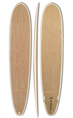 9'6 Surfboard Epoxy Longboard Diamond Tail Nose Rider Oak Wood 2+1 - DT