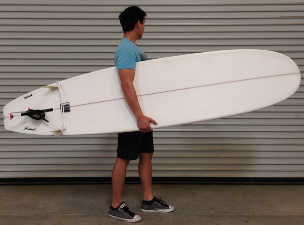 7'0 - 7'4 - 7'8 - 8'0 - 8'4 - 8'6 Epoxy EPS Surfboard Sanded Clear Mini Longboard - JH Stoke