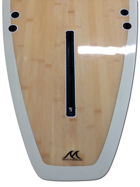 8'8 - 9'1 - 9'6 - 10'0 Surfboard Epoxy Longboard Bamboo Wood Inlay - Bambam