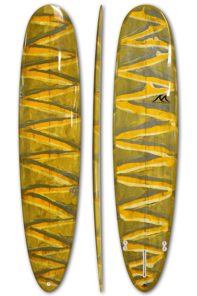 8'8 - 8'11 - 9'2 - 9'5 - 9'8 Epoxy Surfboard Performance Round Pin Noserider Longboard - HP
