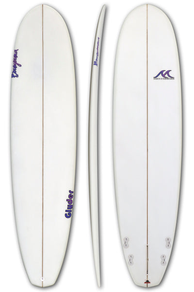 8'0 - 8'2 - 8'4 Epoxy EPS Surfboard Diamond Tail Funboard 4+1 Fins - Glyder