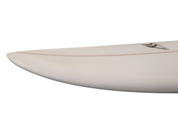6'9 - 7'0 - 7'3 Surfboard Poly Funboard Hybrid Swallow Tail Fish Sanded Clear 5 Fins - JH Rock'it