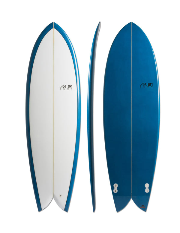Retro Fish Twin Fin Blue