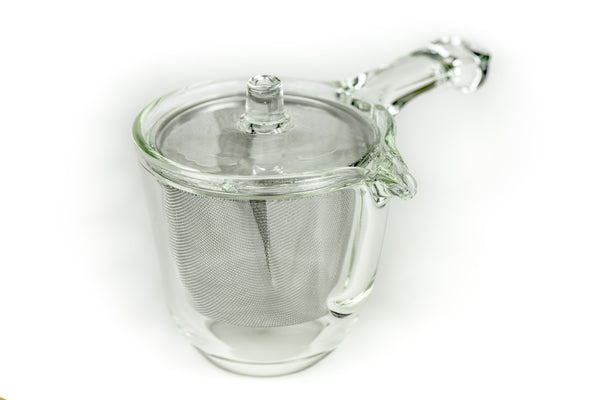 Glass kyusu teapot
